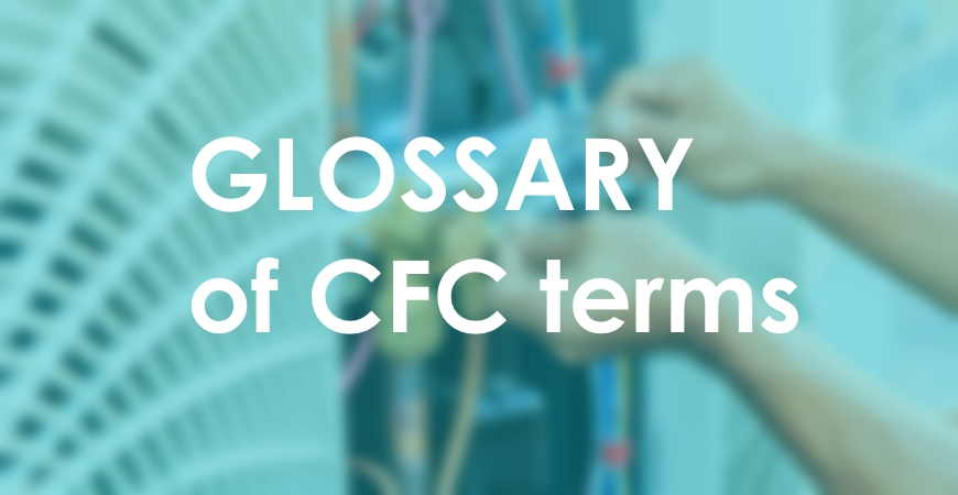 CFC glossary terms. HVAC online courses